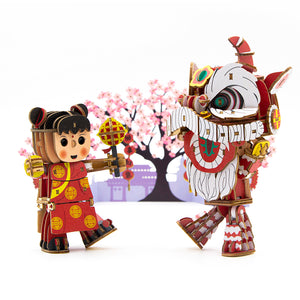 [JIGZLE Wooden Puzzle]<br>Lion Dance Set