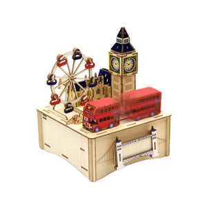 [JIGZLE Wooden Puzzle]<br>London Musical Box