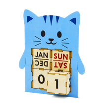 Load image into Gallery viewer, [TeamGreen Lifestyle]<br>Kitty - Animal Perpetual Calendar