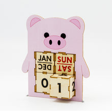 Load image into Gallery viewer, [TeamGreen Lifestyle]<br>Pig - Animal Perpetual Calendar