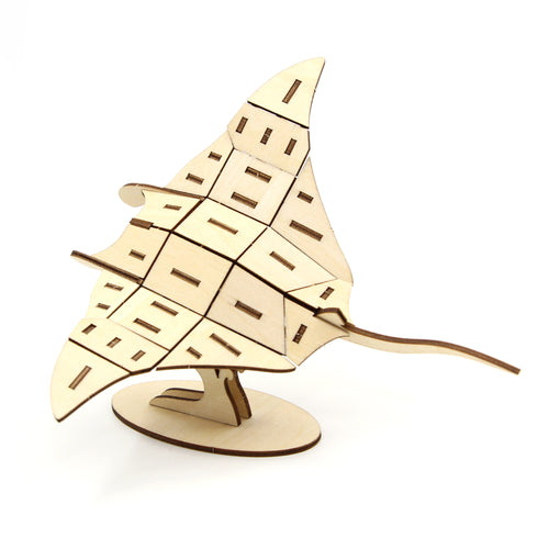 [JIGZLE Wooden Puzzle]<br>Manta Ray