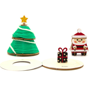 [JIGZLE Wooden Puzzle]<br>Warm Winter Pop Up Card - Christmas Tree