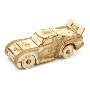 [ INCREDIBUILDS Wooden Puzzle]<br>Cars - Lightning McQueen