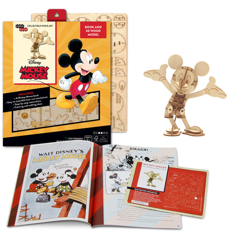 [ INCREDIBUILDS Wooden Puzzle]<br>Mickey Mouse