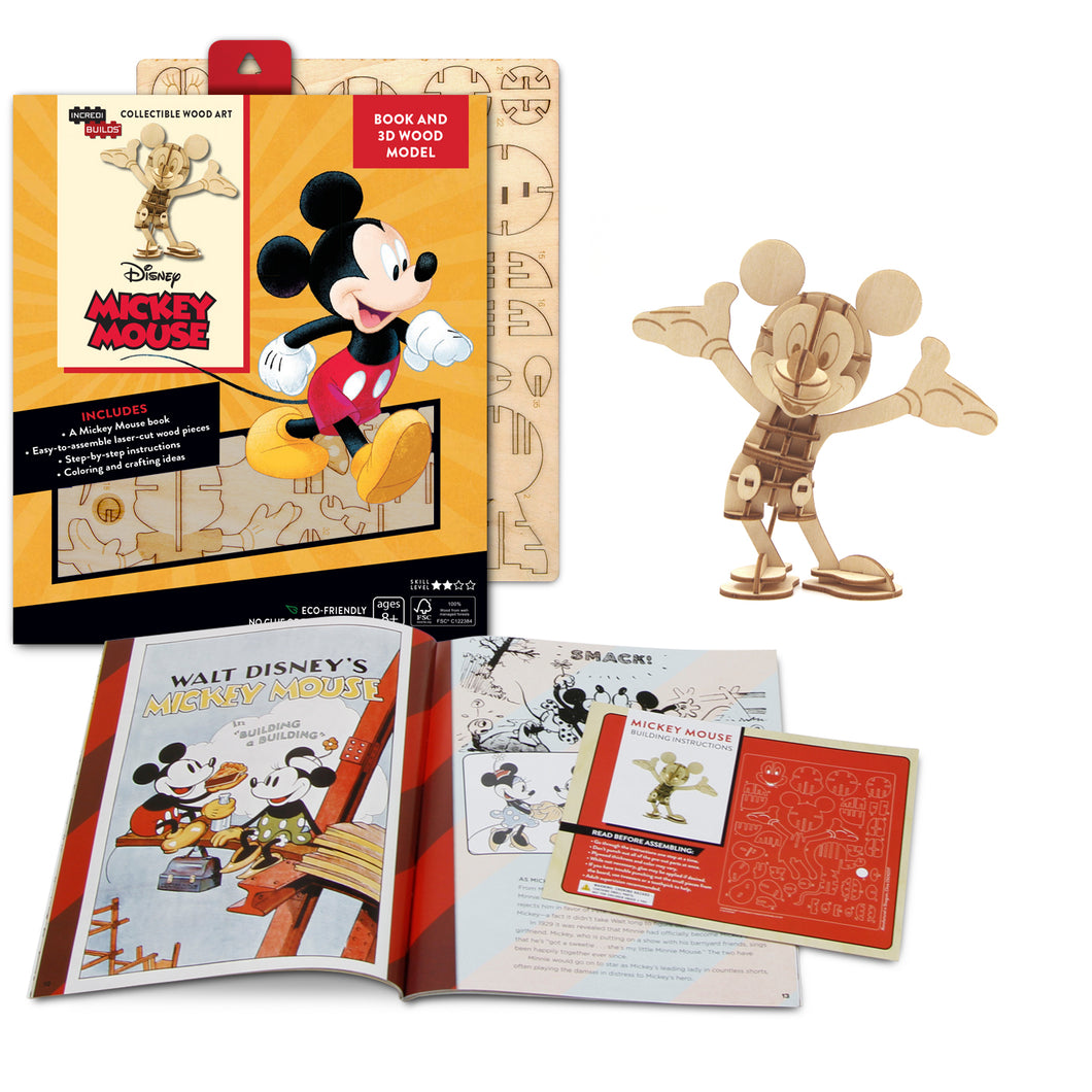 [INCREDIBUILDS Wooden Puzzle]<br>Mickey Mouse