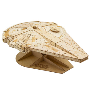 [INCREDIBUILDS Wooden Puzzle]<br>Star Wars - Millennium Falcon (Collectable Edition)