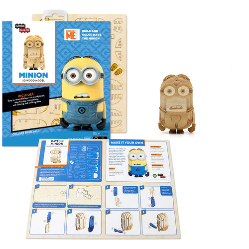[ INCREDIBUILDS Wooden Puzzle]<br>Minion