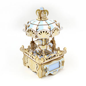 [JIGZLE Wooden Puzzle]<br>Merry Go Round Musical Box