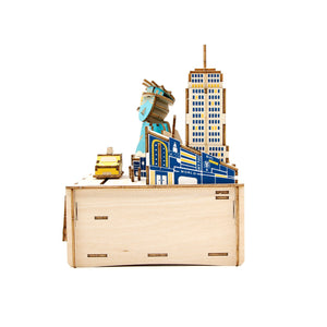 [JIGZLE Wooden Puzzle]<br>New York Musical Box