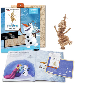 [ INCREDIBUILDS Wooden Puzzle]<br>Frozen - Olaf