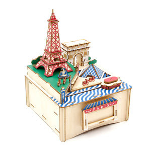 [JIGZLE Wooden Puzzle]<br>Paris Musical Box