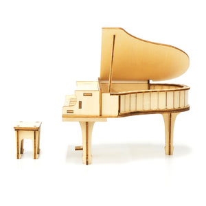 [JIGZLE Wooden Puzzle]<br>Piano