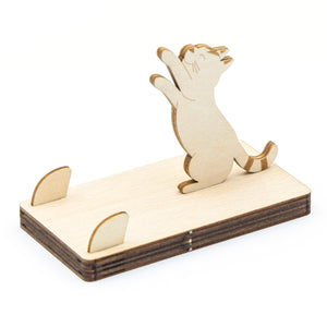[JIGZLE Wooden Puzzle]<br>Cat Mobile phone stand Series