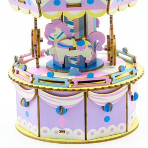 [JIGZLE Wooden Puzzle]<br>Playground Series - Pony Go Round