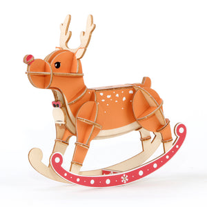 [JIGZLE Wooden Puzzle]<br>Reindeer (Balance Game)