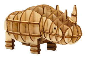 [JIGZLE Wooden Puzzle]<br>Safari Animals
