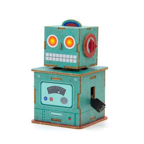 [JIGZLE Wooden Puzzle]<br>Robot Cable Box