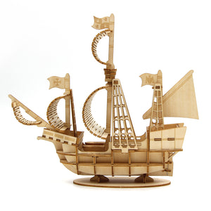 [JIGZLE Wooden Puzzle]<br>Sailing Ship