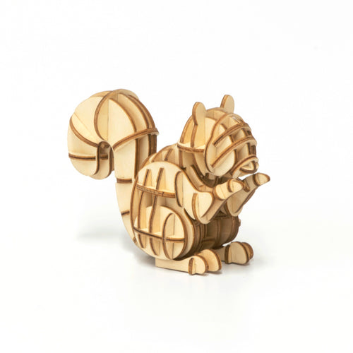 [JIGZLE Wooden Puzzle]<br>Squirrel