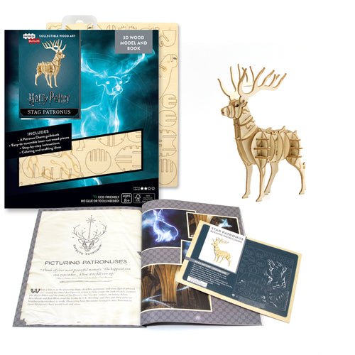 [ INCREDIBUILDS Wooden Puzzle]<br>Fantastic Beasts - Stag Patronus