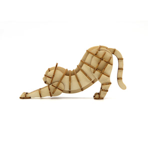 [JIGZLE Wooden Puzzle]<br>Stretching Cat