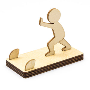 [JIGZLE Wooden Puzzle]<br>Little Man Mobile phone stand Series