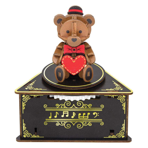 [JIGZLE Wooden Puzzle]<br>Teddy Bear Musical Box