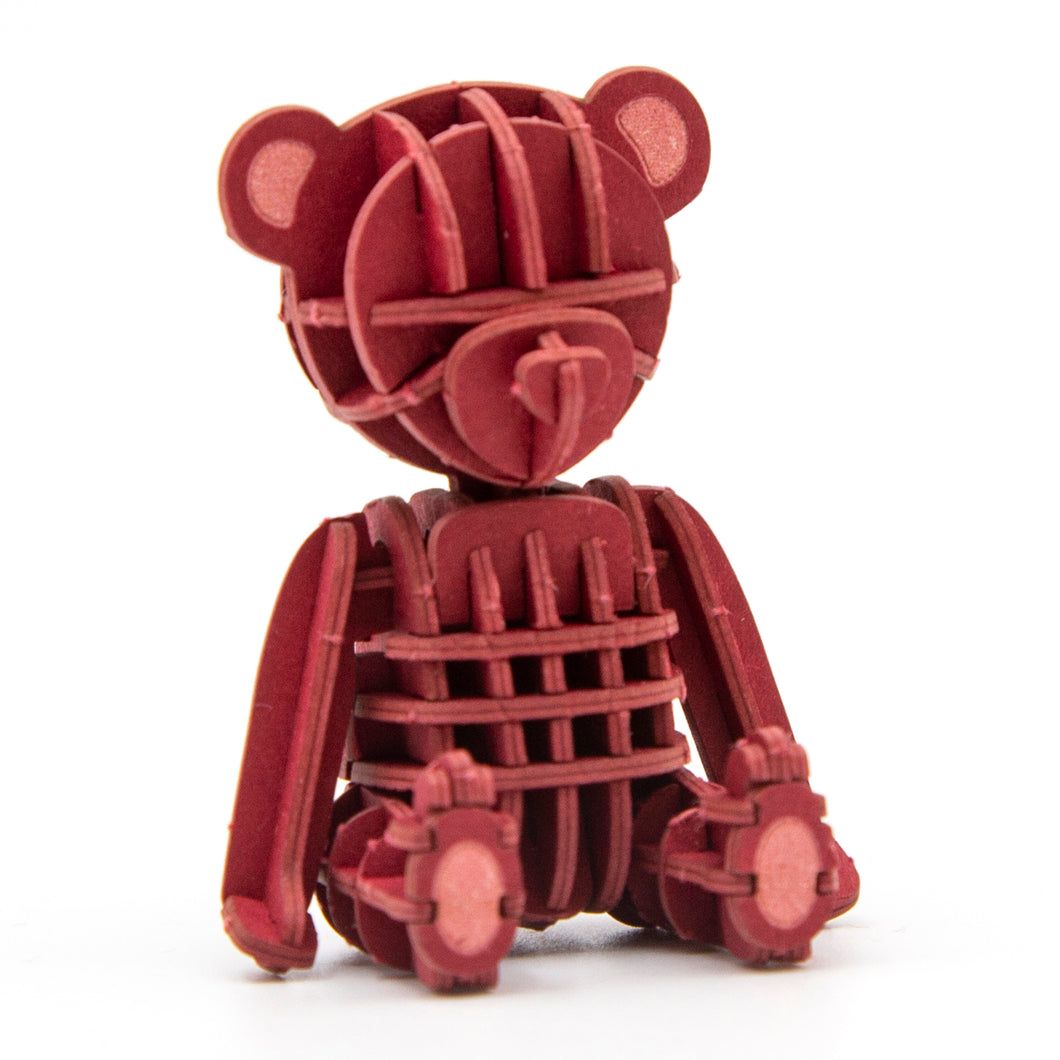[JIGZLE Paper Puzzle]<br>Teddy Bear (Red)