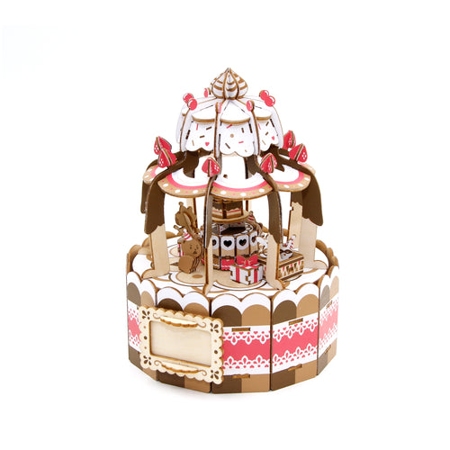 [JIGZLE Wooden Puzzle]<br>The Cake Party Musical Box