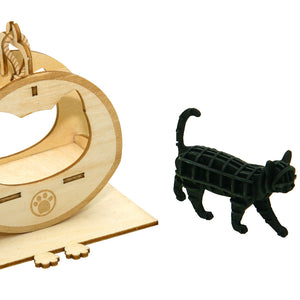 [JIGZLE Paper + Plywood Puzzle]<br>Cat Playground with Walking Cat