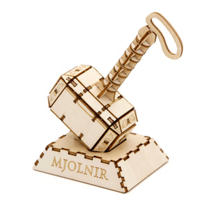 [INCREDIBUILDS Wooden Puzzle]<br>Thor Mjolnir
