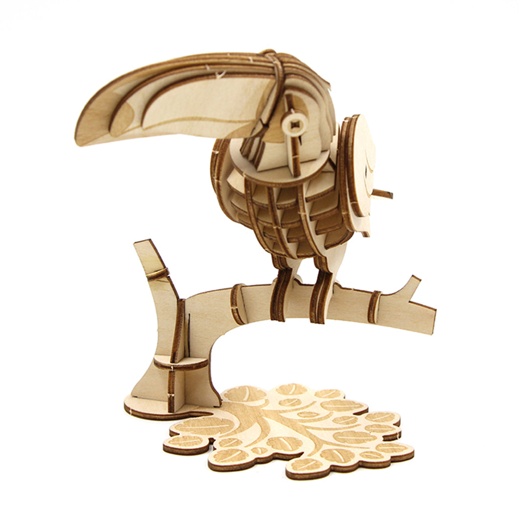[JIGZLE Wooden Puzzle]<br>Toucan bird