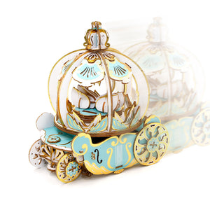 [JIGZLE Wooden Puzzle]<br>Pumpkin Carriage Musical Box (Ring Holder)