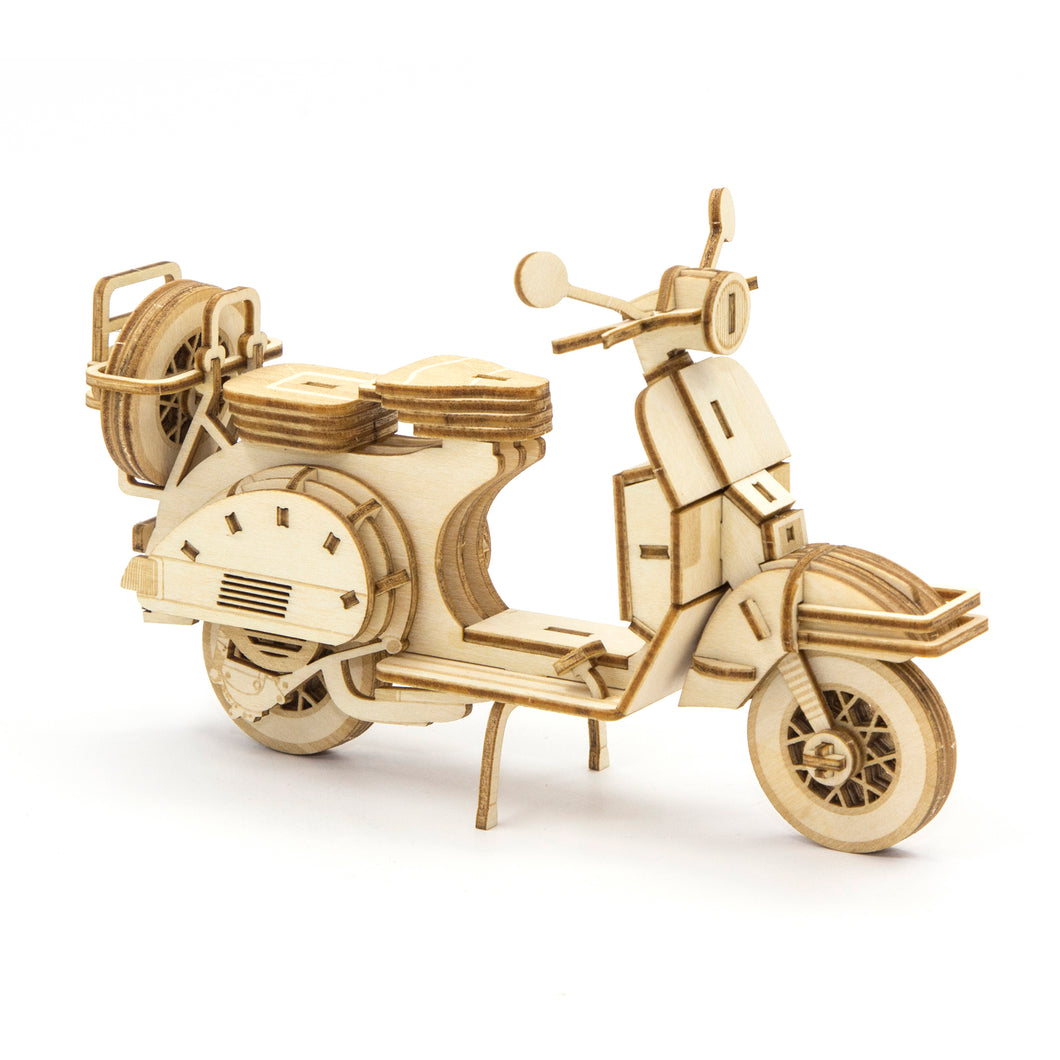 [JIGZLE Wooden Puzzle]<br>Scooter