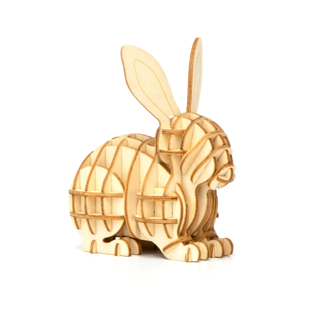 [JIGZLE Wooden Puzzle]<br>Rabbit