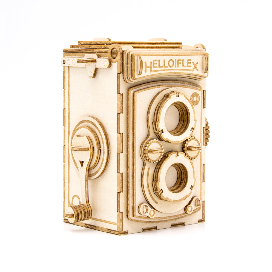 [JIGZLE Wooden Puzzle]<br>Retro Camera Photo Frame