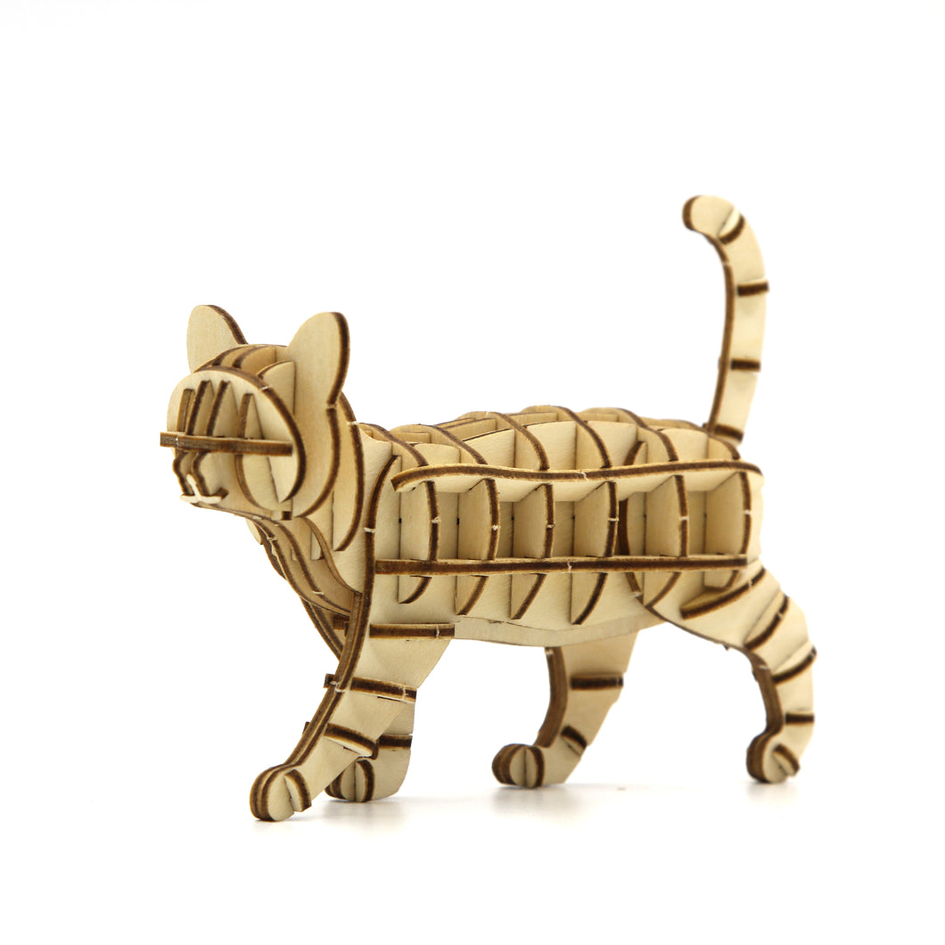 [JIGZLE Wooden Puzzle]<br>Walking Cat