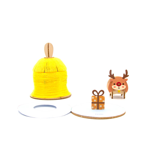 [JIGZLE Wooden Puzzle]<br>Warm Winter Pop Up Card - Christmas Bell