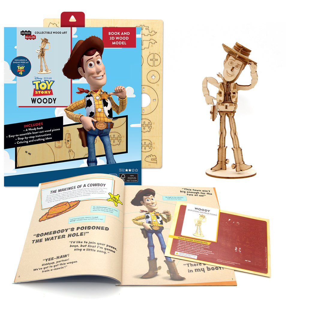 [ INCREDIBUILDS  Wooden Puzzle]<br>Toy Story - Woody