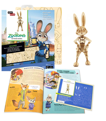 [INCREDIBUILDS Wooden Puzzle]<br>Zootopia - Judy Hopps