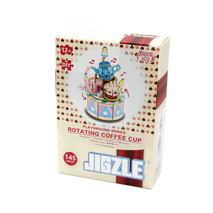 [JIGZLE Wooden Puzzle]<br>Playground Series - Rotating Coffee Cup