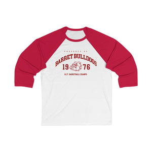Barret Bulldogs HIT Basketball Champs 1976 - Unisex 3/4 Sleeve Baseball Tee by VTH