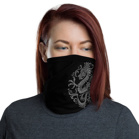 The Black Dragon Protective Neck Gaiter (Mask) and Scarf by Women Required™ WRQ