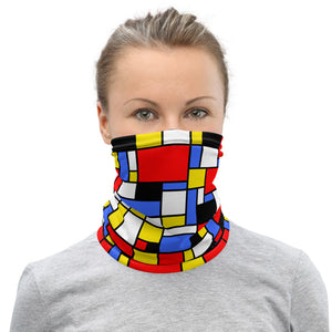 The Mondrian Protective Neck Gaiter (Mask) and Scarf by Women Required™ WRQ
