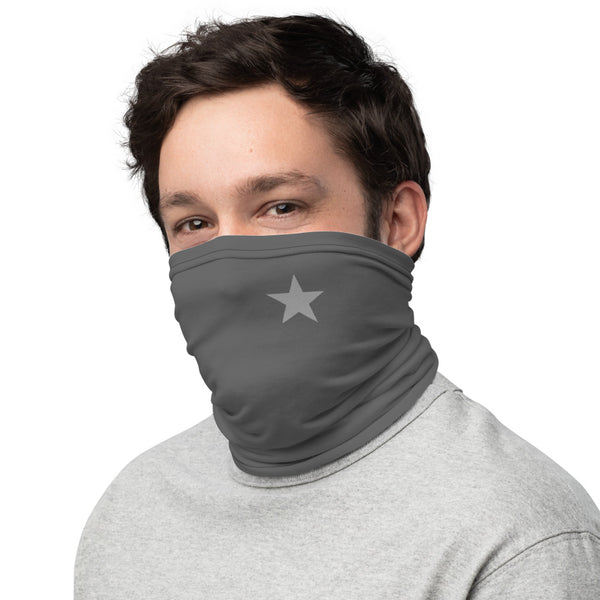 The Humble Star GRAY Neck Gaiter (Protective Mask) by BFW