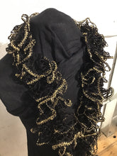 Load image into Gallery viewer, Hand Knitted Scarf - Black and Gold