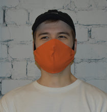 Load image into Gallery viewer, Single - Shaped Face Mask: Orange w/ Stone Lining - Buy One Give One