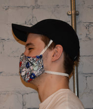 Load image into Gallery viewer, 2 Pack - Shaped Face Mask: Pink Music & Purple - Buy One Give One