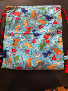 Drawstring Swim Bag, waterproof liner, extra large