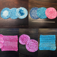 Load image into Gallery viewer, Reusable crochet makeup wipes - set of 5 - colour options